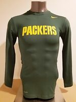 Green Bay Packers NFL Locker Room Player Issued Apparel Dri-Fit (L) Long Sleeves