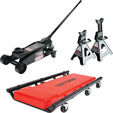 NEW! Craftsman Steel 2 1/4 Ton Floor Jack 2 Stands & Creeper Car Mechanic Set