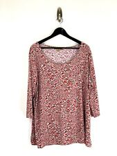 Notations Woman Plus Size Blouse Size 2X Floral Scoop Neck Made in USA