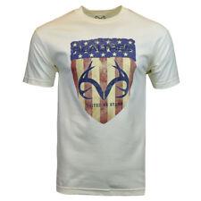 Mens Tee T Shirt S M L XL XXL American Flag Deer Hunting Camo 4th of July NEW
