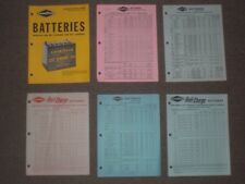 Goodyear Tire & Rubber Co Batteries literature & price sheets 1963-1965