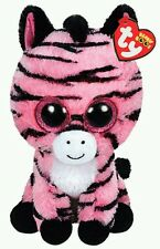 TY PELUCHE ZEBRA ZOEY - The Pink Beanie Plush Pupazzo Portachiavi Keychain Toy