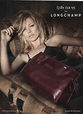 PUBLICITE ADVERTISING  2011  LONGCHAMP sac dessiné par Kate Moss    280412