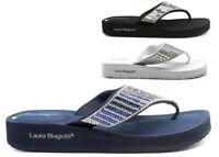 Infradito da donna Laura Biagiotti 6252 sandali estate mare doccia con strass
