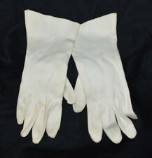 Beige Off White Cotton Driving Dress Gloves Vintage Size Small
