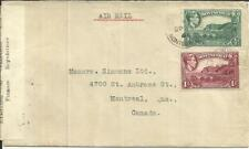 Montserrat SG#101a,#108a-PLYMOUTH MY/9/42 Registered(label)-Examined in