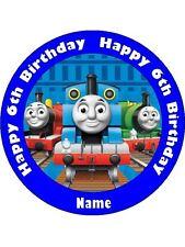 THOMAS THE TANK 19CM REAL KOPYKAKE EDIBLE ICING IMAGE BIRTHDAY CAKE TOPPER.