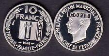 ★★★ JOLIE COPIE DE L'ESSAI NICKEL DE DELANNOY DE LA 10 FRANCS 1941 PETAIN ★★★★