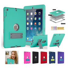 For iPad 4 5 6th 9.7''Mini 4 Shockrpoff Rugged Hybrid Silicone Stand Cover Case