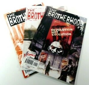 MARVEL Comics THE BROTHERHOOD (2001) #1 2 3 LOT Set RUN X-MEN VF/NM Ships FREE!
