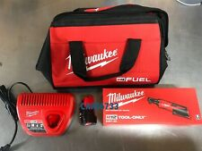 Milwaukee 2457-21 M12 Cordless 3/8 Lithium Ratchet Kit Battery 1.5 48-11-2401