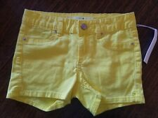 NEW Joe's  Girls Shorts Yellow Size 12 Mid-Rise Stretch