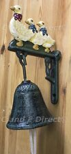 Outdoor Garden Cast Iron Wall Mounted Door Bell with Ducks Duck Family NEW