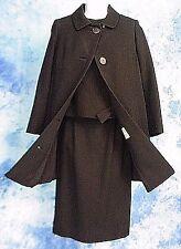 MOD 50s VtG GLaM MiD CENTURY BLACK COCKTAiL DRESS SKiRT & TOP SUiT SWiNG COAT S