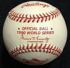 1990 Official World Series Baseball Cincinnati Reds Barry Larkin New In Box Mint