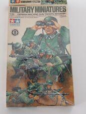 MILITARY MINIATURES GERMAN MACHINE GUN TROOPS INFANTRY TAMIYA 1/35 OPEN BOX