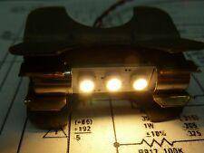 Six (6) WHITE LED Fuse Lamps FOR MC2125 Amplifier Meters Parts Repair Restore MC