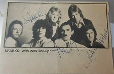 More details for sparks autograph 1974 birmingham ron, russell and adrian fisher £89.99
