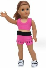 Dance Warm Up Shorts,Bra 18 in Doll Clothes Fits American Girl