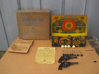 Vintage Marx Electric Ball Blowing Target Shooting Gallery Game w/ Box  B8177