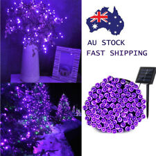 500 LEDs Waterproof Solar Purple Fairy String Lights Xmas Party Garden Decor 52M