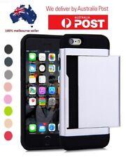 Slim Tough Shockproof Armor Hybrid Wallet Card Slide Case Iphone SE 5 6 7 8 +