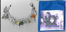 LORD OF THE RINGS / HOBBIT Inspired Charm Bracelet Altered Art  Loaded    Bag