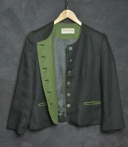 Auzinger Trachten Women Jacket XL Blazer Linen Cotton Hunting Tyrol Loden Black