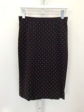 DOLCE & GABBANA BLACK AND RED SILK POLKA DOT SKIRT SIZE 8 NWOTS!