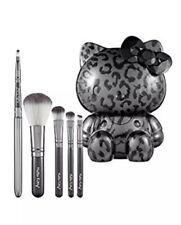 Authentic Hello KItty Wild Thing Cosmetic Makeup Brush Set Cheetah Holiday LTD