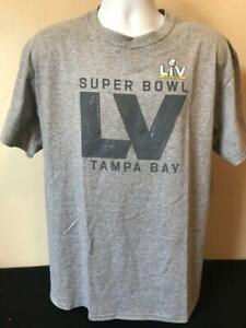 NFL Super Bowl LV Tampa Bay Men's Short Sleeve Grey Shirt by Starter Size L