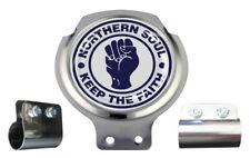 Northern Soul Navy & White Design Scooter Bar Badge - FREE BRACKET & FIXINGS