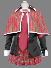 Shugo Chara Hinamori Amu Cosplay Red Janpanese School Girl Uniform Shugo Chara C