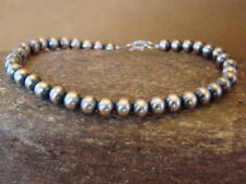 Native Indian Jewelry Hand Strung Silver Desert Pearl Bracelet