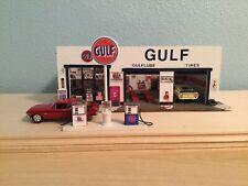 1/64 Scale Handmade Gulf Gas Station Diorama