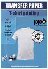 PPD A3 Inkjet T Shirt Transfer Paper X 50 Sheets With Free Delivery