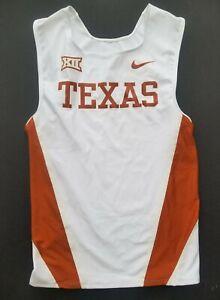 Nike Texas Longhorns Team Issued Track & Field Singlet Tank White Men's Size L