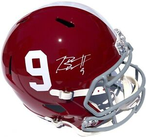 BRYCE YOUNG #9 SIGNED ALABAMA CRIMSON TIDE F/S FOOTBALL HELMET PSA/DNA