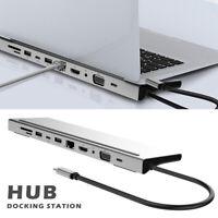11in1 Type C vers USB-C USB3.0 HDMI VGA PD Hub Adaptateur Station d'accueil p LB