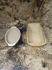 Pampered Chef Family Heritage Collection Stoneware Set Loaf &Casserole Dish Pans