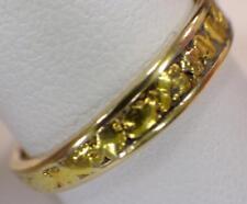 22KT Nuggets 10KT GOLD BAND Ring Sz. 9 1/4  Men's Women's 2.739 Grams 3.75mm