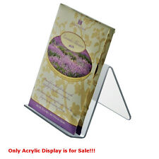 Acrylic Clear Easel Display 5W x 5D x 4.125H Inches - Case of 10
