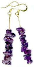 14ktGF Earrings Handcrafted Purple Amethyst Gemstone on French Hooks