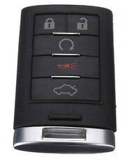 5 Button Remote Key Fob Case Shell+Key Blank for Cadillac XTS DTS STS CTS New