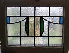 Art Déco anglais vitrail dans original cadre