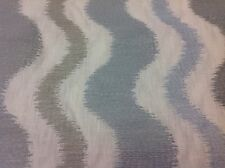 Fabricut Wavy Line Embroidery Upholstery Fabric Overstreet Opal 1.0 yd #0087302