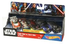 Hot Wheels Star Wars Light Side V's Dark Side 5 Pack Cars with Exclusive Model