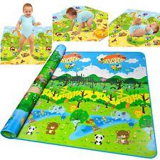 Grand 2mx1,8m Bébé Play Ramper Tapis Enfant Forêt Flore Sol Activité De Jeux