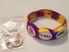 Wrist Skins Golf Ball Marker Bracelet, LSU Tigers Football,Magnetic,Size Small