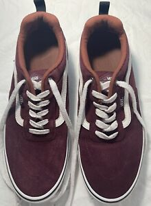 Men's VANS Maroon Shoes Size 12 FREE SHIPPING